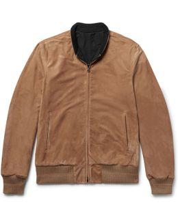 Reversible Suede And Nylon Blouson Jacket