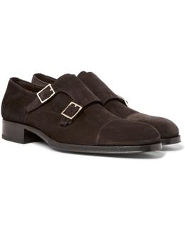 Edgar Suede Monk-strap Shoes