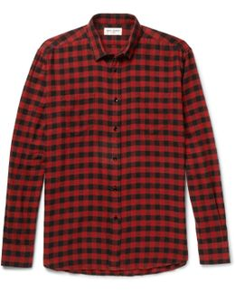Buffalo Checked Cotton-flannel Shirt