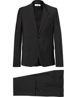 Slim-fit Mohair And Wool-blend Suit