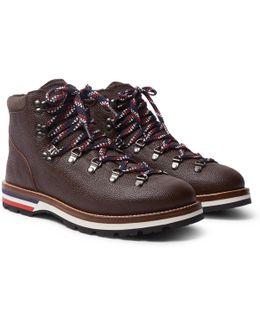 Peak Pebble-grain Leather Hiking Boots