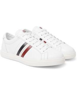 La Monaco Striped Leather Sneakers