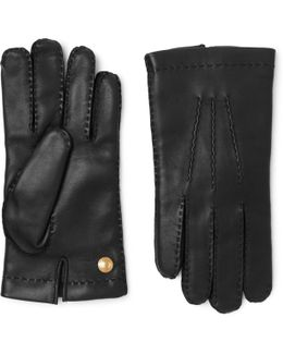 Cashmere-lined Full-grain Leather Gloves