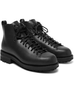Hiker Shearling-lined Leather Boots