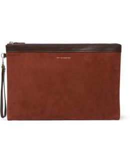 Barajas Nubuck And Leather Pouch