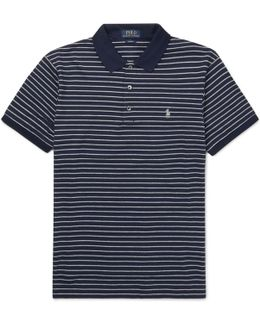 Striped Stretch-cotton Polo Shirt