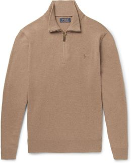 Slim-fit Wool Half-zip Sweater