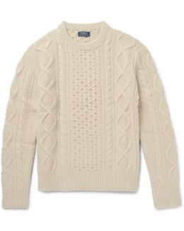 Aran-knit Merino Wool-blend Sweater