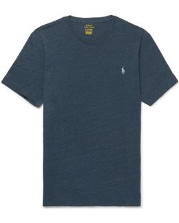 Mélange Cotton-jersey T-shirt