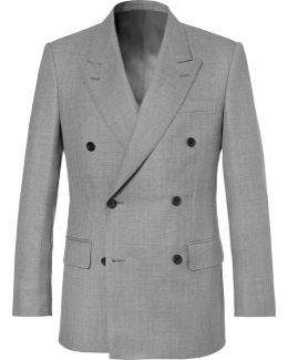 Harry's Light-grey Double-breasted Wool Suit Jacket