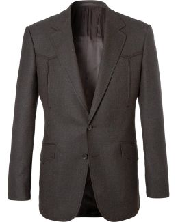 Champ's Statesman Brown Wool Western Jacket