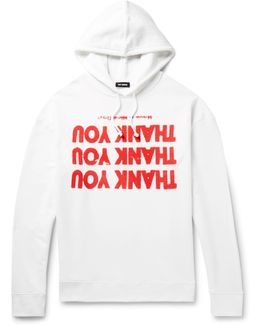 Oversized Printed Loopback Cotton-jersey Hoodie