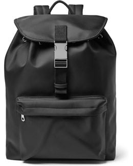 Canvas-trimmed Shell Backpack