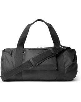 Canvas-trimmed Shell Duffle Bag
