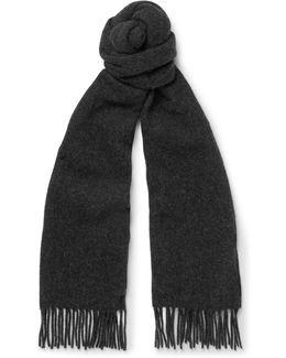 Fringed Virgin Wool-felt Scarf