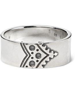 Dweller Engraved Silver Ring