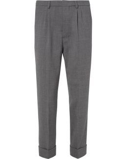 Tapered Woven Trousers