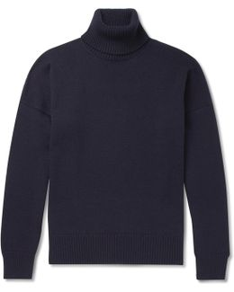 Oversized Merino Wool And Cashmere-blend Rollneck Sweater
