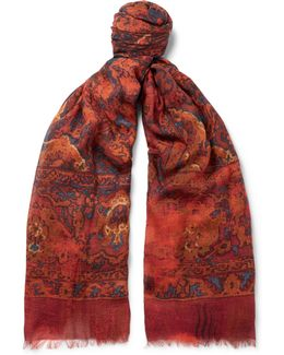 Tapestry Modal, Cotton And Cashmere-blend Scarf