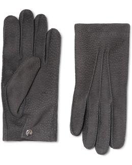 Textured-suede Gloves