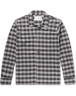 Gingham Cotton-flannel Overshirt