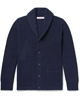Lowe Shawl-collar Ribbed Cotton Cardigan