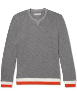 Whiteley Contrast-trimmed Waffle-knit Cotton Sweater