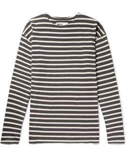 Mhl Striped Cotton-jersey T-shirt