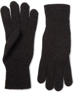 Ribbed Merino Wool And Cashmere-blend Gloves