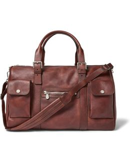 Burnished-leather Holdall