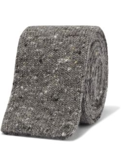 5.5cm Mélange Knitted Wool And Cashmere-blend Tie