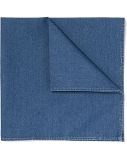 Cotton-chambray Pocket Square