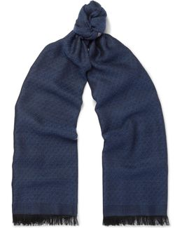 Cashmere And Silk-blend Jacquard Scarf