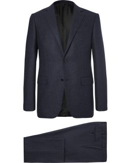 Blue Slim-fit Milano Wool And Cashmere-blend Suit
