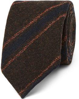 8cm Striped Wool Tie