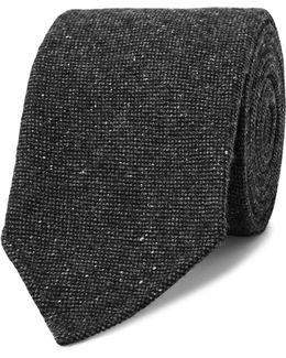8cm Mélange Stretch Wool-blend Tie