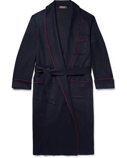 James Piped Baby Cashmere Robe