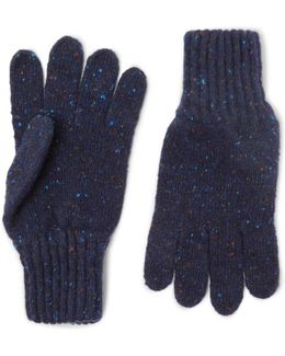 Ribbed Donegal Merino Wool Gloves