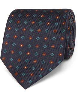7cm Patterned Silk Tie