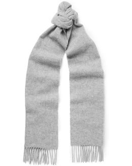 Johnstons Fringed Wool Scarf