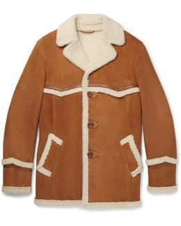 Harry's Statesman Leather-trimmed Shearling Coat