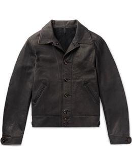 Mister Freedom Jack's Statesman Corduroy-trimmed Leather Jacket