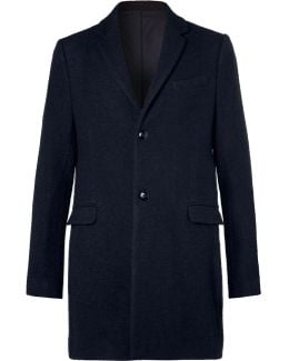 Wool And Cotton-blend Overcoat