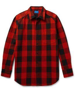 Buffalo-checked Cotton-twill Shirt