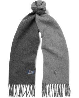 Reversible Virgin Wool-blend Scarf