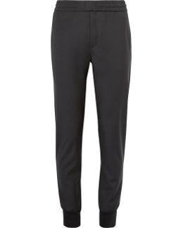 Slim-fit Tapered Wool Drawstring Trousers