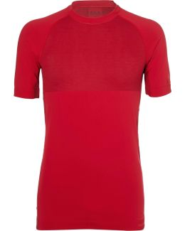 Mesh-panelled Stretch-jersey T-shirt