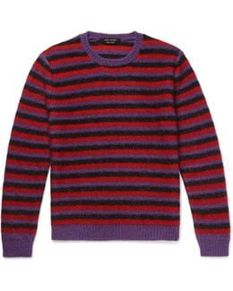 Striped Mohair-blend Sweater