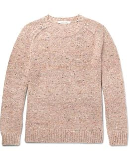 Olympia Mélange Virgin Wool And Cashmere-blend Sweater