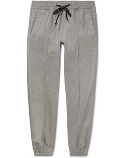 Tapered Virgin Wool-flannel Drawstring Trousers